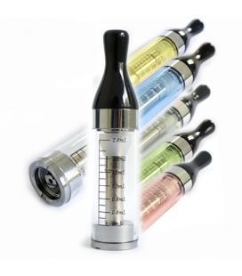 Lot de 5 clearomizer T2 translucide 2,4 ml