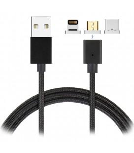 Cable USB 3 en 1 magnétique
