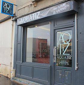 Aquatiz Dijon Auxonne reseau Sonrisa exterieur materiel et produit du vapotage
